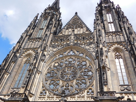 A historical Gothic Cathedral in Prague