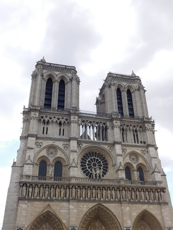 A historical Notre-Dame Cathedral in Paris