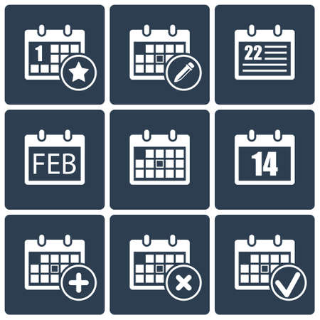 vector calendar icons set Vector