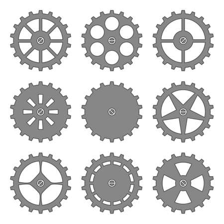 cogs and gears: vector gears and cogs wheels set