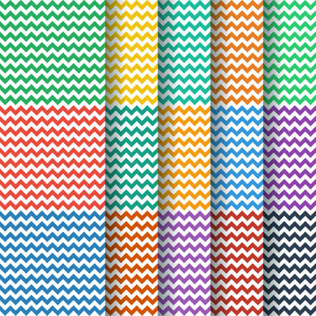 nephritis: vector chevron seamless pattern collection in flat color style
