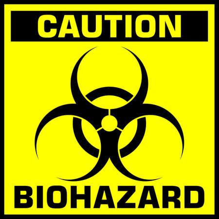 caution biohazard sign. vector illustration