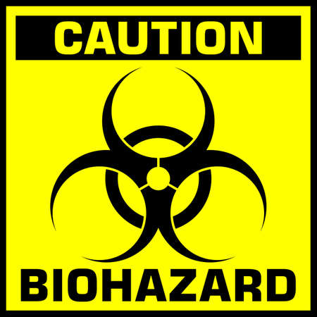 caution biohazard sign. vector illustration