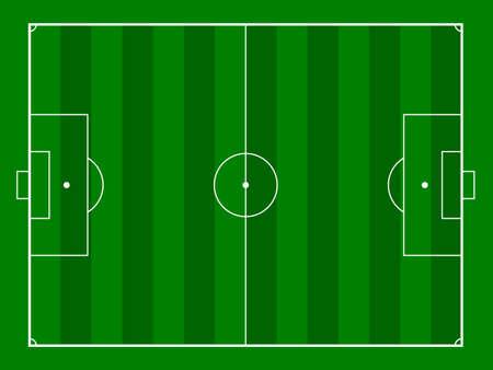 footbal: green grass footbal or soccer field background, gridiron. vector illustration Illustration
