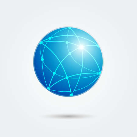 global network connection emblem. vector illustration Stok Fotoğraf - 37499682