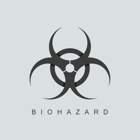 biohazard symbol or sign. isolated on grey background. overlapping technique. vector illustration