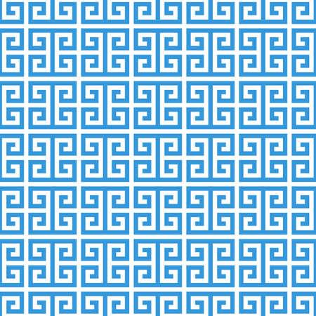 greek fret meander. vintage greek key seamless pattern background. vector illustration.
