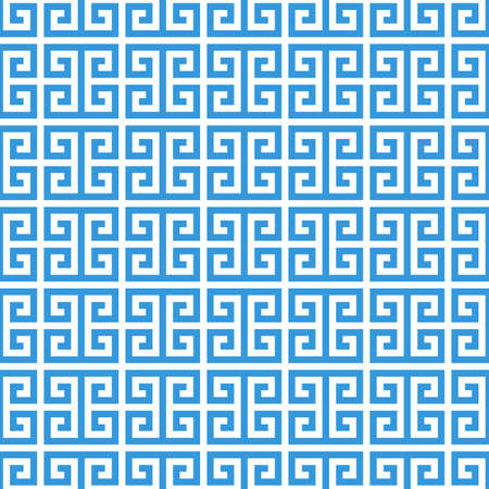 meander: greek fret meander. vintage greek key seamless pattern background. vector illustration.