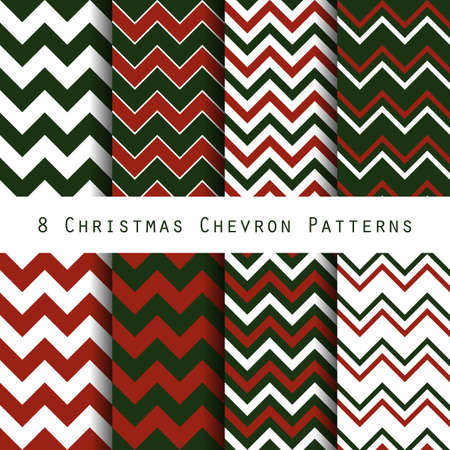 retro christmas chevron seamless pattern background. dark green and dark red color combinations. vector illustration