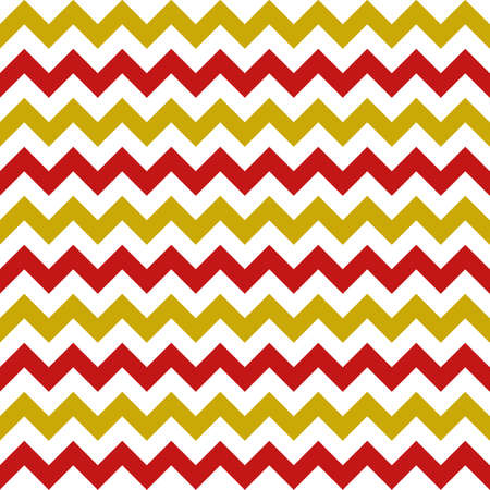 christmas chevron seamless pattern on white background. gold and red traditional color combination. vector illustration