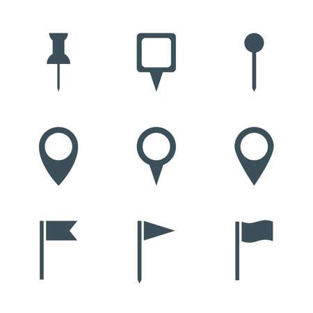 Map pin icon set. geïsoleerd op een witte achtergrond. vector illustratie Stockfoto - 51300015