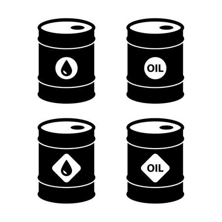 oil barrel icons. isolated on white background.