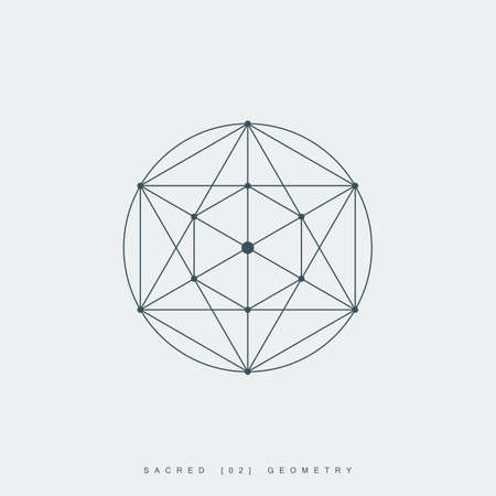 sacred geometry. pentagram sign or symbol. esoteric or spiritual symbol. isolated on white background.