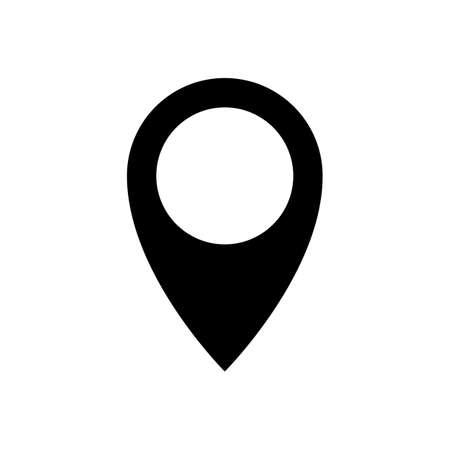 icono de caída de un alfiler. icono de punto de alfiler. signo o símbolo de geolocalización. icono de ubicación. mapa caída de un alfiler. ubicación del puntero del mapa. aislado sobre fondo blanco.