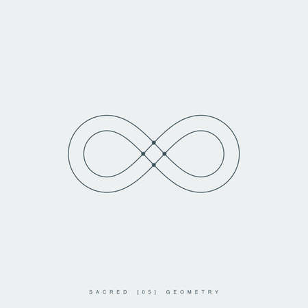infinity symbol: infinity symbol or sign. infinity sacred geometry symbol. esoteric or spiritual symbol. isolated on white background.