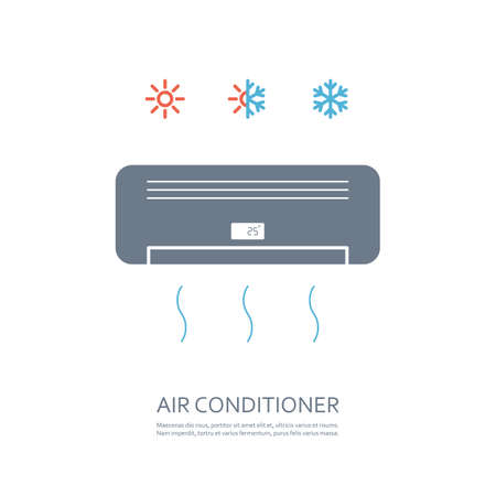 air conditioner icon. isolated on white background.