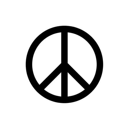 pacificist: peace symbol or sign. peace icon. isolated on white background.