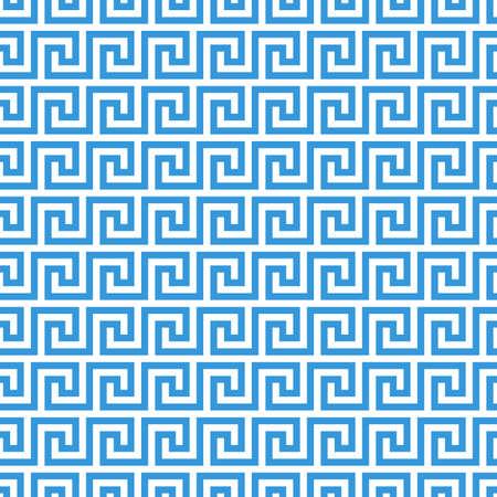 ギリシャ フレット蛇行。ビンテージ ギリシャ キー シームレスなパターン背景 写真素材 - 63619890