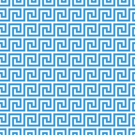 greek fret meander. vintage greek key seamless pattern background