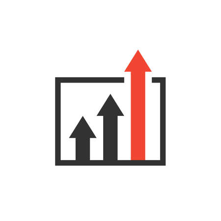 advantage icon. business growth concept. isolated on white background.
