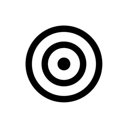 darts target icon. isolated on white background. Çizim