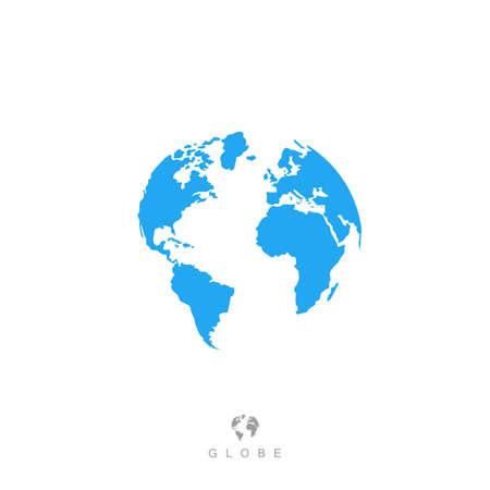 globe icon, earth symbol, world sign. isolated on white background.