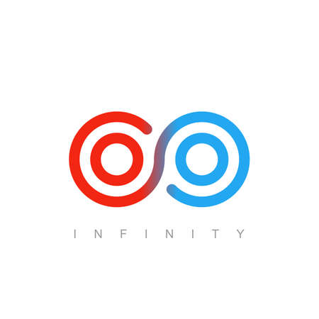 thin line infinity symbol or sign. linear infinite icon. limitless emblem concept in modern flat outline style. isolated on white background.