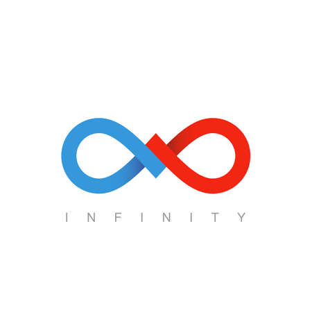 infinity symbol or sign. infinite icon. limitless mobius strip. business communication concept. isolated on white background. vector illustration