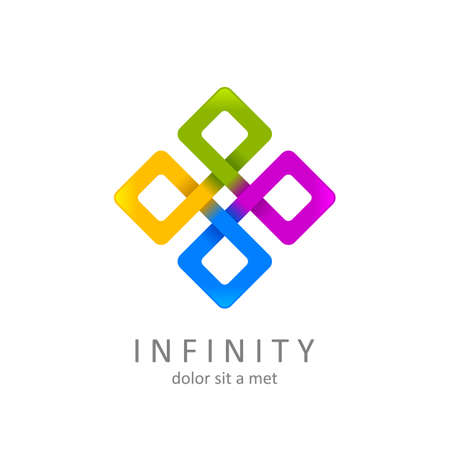 infinity symbol or sign. limitless icon. isolated on white background. vector illustration