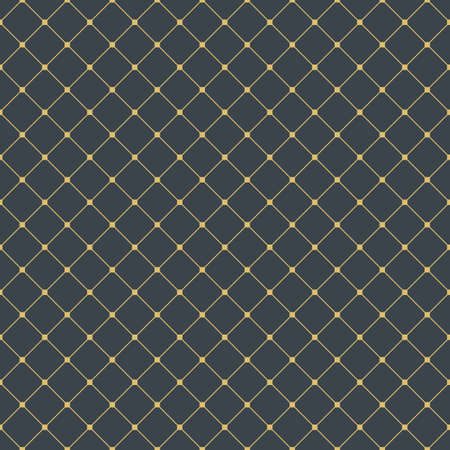 arabesque geometric seamless pattern. arabian ornament with diagonal golden lines and dots. abstract background. vector illustration