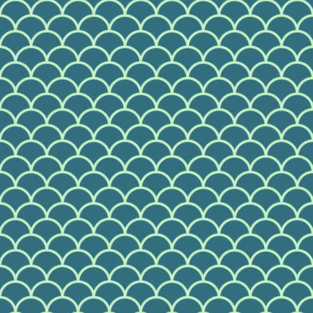 fish, mermaid scale seamless pattern. abstract reptile skin background. vector illustration Illustration
