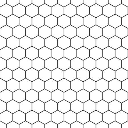 hexagon seamless pattern. hexagonal grid texture. honeycomb background. vector illustration Illustration