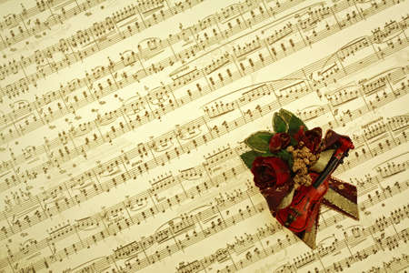 transcribe: Vintage music notes background