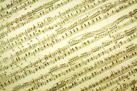 letras musicales: Vintage toma nota de la m�sica de fondo