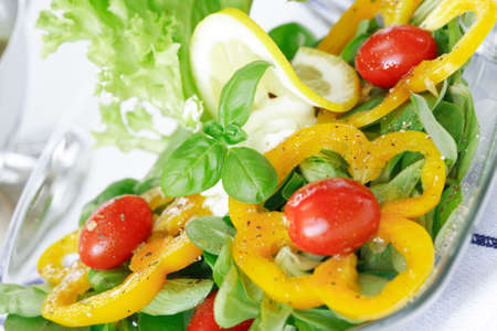 low calorie: Delicious vegetable salad with low calorie
