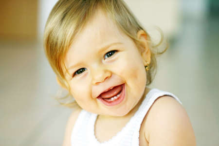 Laughing baby Stock Photo