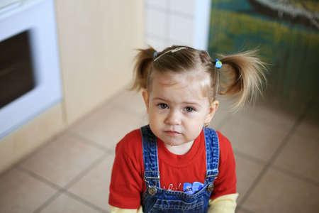 dolorous: Unhappy child Stock Photo