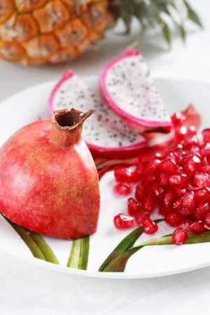 calorie: Exotic fruits, lot of vitamins, low calorie