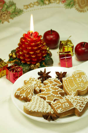 Christmas still life with gingerbread Stock Photo