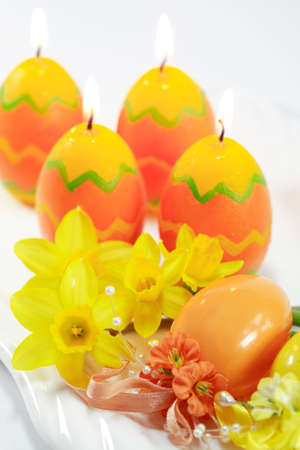 candes: Easter detail with candes Stock Photo