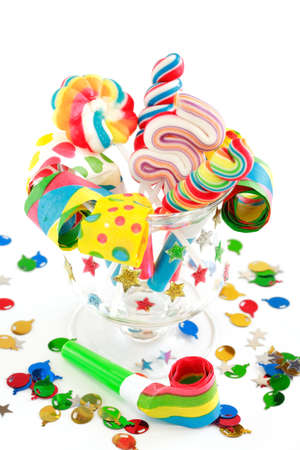 Party accessories for New Year Eve, birthday party or carnival Stock Photo