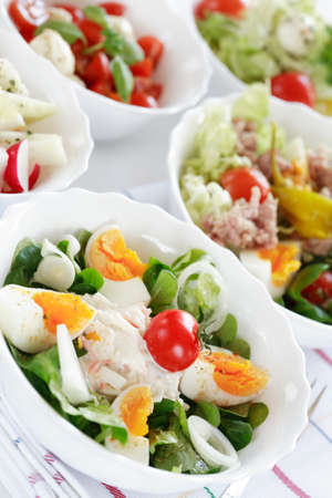 Small salads, low calorie eating