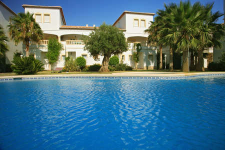 spanish style: Spanish villas with swimming pool
