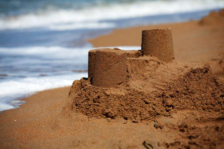Sandcastle - concept of making save building photo