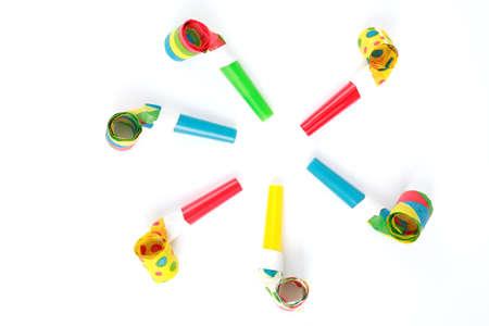 noise maker: Carnival noise maker Stock Photo