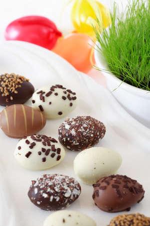 Chocolate Easter eggs photo