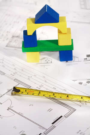 bilding: Concept of planning new  house