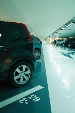 car park interior: Parking in the garage Editorial