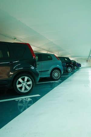 car park interior: Parking in the parking garage
