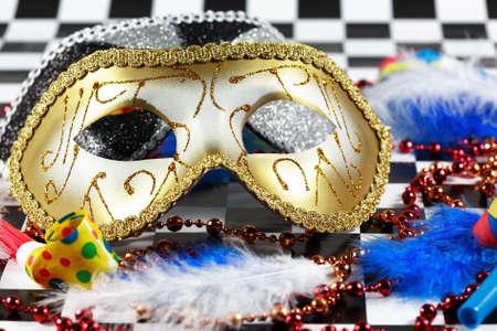 Dettaglio Carnevale con la maschera
